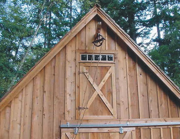 Simple Barn Style Roof Overhangs