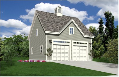 Oak Lawn Two Car Coach House Style Garage Plans Expandable