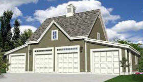 Free 20 x 32 Garage Building Plan Design with Loft