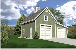 Two Car Garage Design - TodaysPlans.com