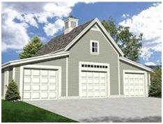 Construction plans for 58 different garage layouts in one inexpensive download at GarageBuilding101.com