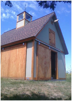 Free Backyard Mini Barn Plans - Choose from a bunch of designs and build a practical little storage barn for your yard.