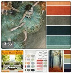 Accent, Art and Craft Color Palettes Board on Pinterest