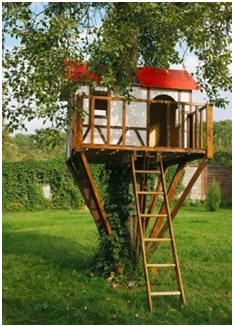 Free Treehouse Plans - Learn how to build a safe and sturdy treehouse, with or without a tree!