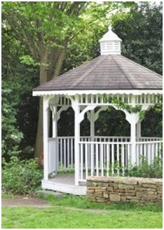 Here's a bunch of absolutely free plans for DIY gazebos, pergolas, arbors and more.