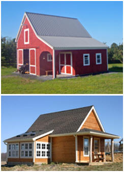Inexpensive, Simple and Flexible Small Pole-Barn Plans and Pole-Frame Garage Plans bu Architect Don Berg