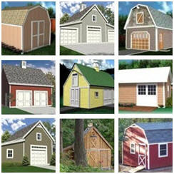 Instant Download Workshop, Hobby Shop, Shed, Mini-Barn and Garage Plans