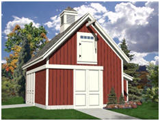 Free Plans - The Candlewood Mini-Barn, Garage and Workshop