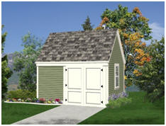 10x12 Garden Tool And Lawn Tractor Storage Shed Plans This Attractive Shed  Is A Sturdy, Permanent Stud Frame Building On A Concrete Slab Foundation.