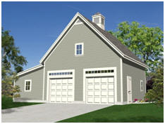 Combination Garage and Workshop Plans with a Loft - free plans at TodaysPlans.com