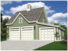 Free, Three-Car and Loft, Coach-House Style Garage Plans
