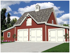 Free Plans for the Oak Lawn Series of Garage, Carriage House, Car Barn and Workshop Plans