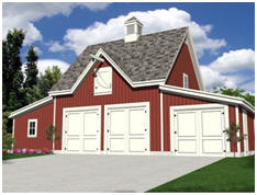 Car and Tractor Barn with Loft and Workshop - Free Building Plans