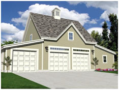 Oak Lawn Garage and Workshop - Download free building plans at TodaysPlans.com