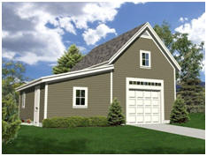 Oakville Garage and Workshop - Free building plans at TodaysPlans.com