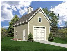 Oakville One-Car Garage with Loft - Download Free Plans at TodaysPlans.com