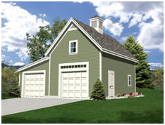 Build a One, Two or Three Car Garage with free plans from TodaysPlans.com