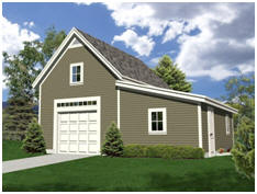 Free Workshop Plans - Choose from a variety of designs for combination garages and shops.