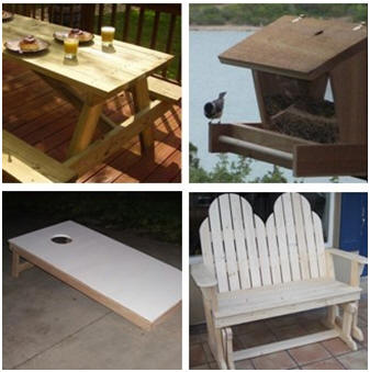 Build your own outdoor furniture, lawn games, planters, a wind chime, a bird feeder, a porch glider, a picnic table and more with free plans and step-by-step instructions from About.com.