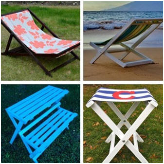 Here's some attractive, lightweight, folding outdoor furniture that you can build on your own. You'll find free, illustrated how-to building instructions and plans at AnnaWhite.com.