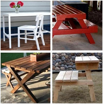 Build any of more than a dozen well-designed outdoor tables, chairs and benches with standard lumber, simple saw cuts and joints, and free, clear how-to diagrams and instructions from Ana-White.com