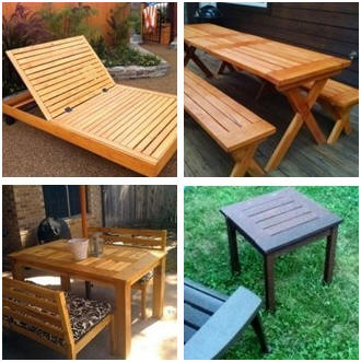 Chesapeake Outdoor Furniture Collection: Free DIY Plans from TheDesig Confidential.com