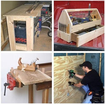 Create your own home woodwork shop with the help of free, DIY plans from ExtremeHowTo.com