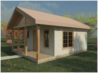 Free Plans for a Tiny, 324 Square Foot Cottage from HousePlanArchitect.com